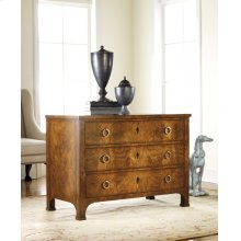 Three Drawer Walnut Commode