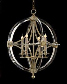 Bent-Crystal Four-Light Chandelier