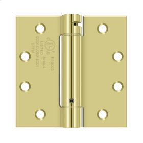 "4 1/2""x 4 1/2"" Spring Hinge, UL Listed - Polished Brass"