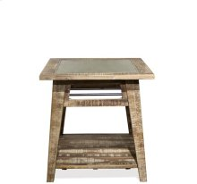 Side Table Rough-hewn Gray finish