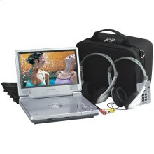 8 inch slim line portable DVD player with headrest mounting kit