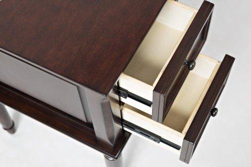 Avignon Birch Cherry Flip Top Desk