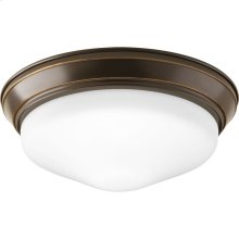 "One-Light 11"" Etched Glass LED Flush Mount"