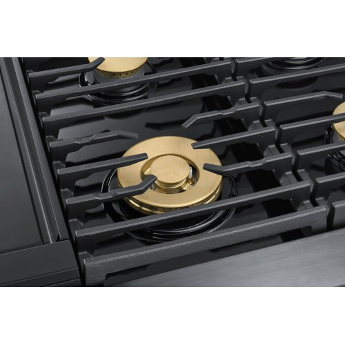 """48"""" Pro Dual-Fuel Steam Range, Graphite Stainless Steel, Natural Gas"""