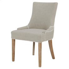 Charlotte Fabric Chair Brushed Smoke Legs, Putty