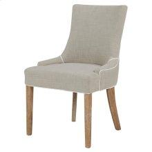 Charlotte Fabric Chair Brushed Smoke Legs, Putty