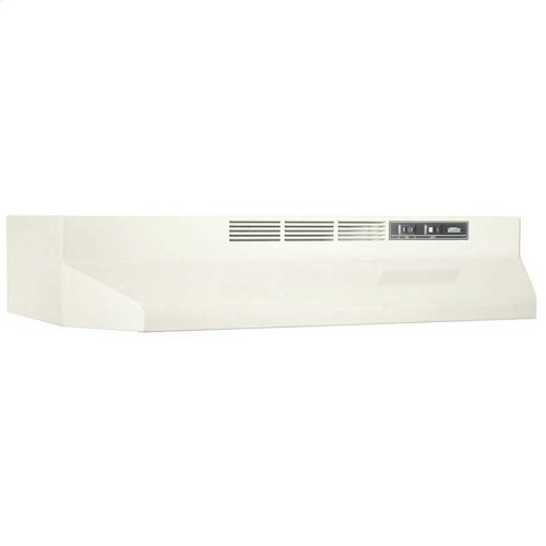 30-Inch Ductless Under Cabinet Range Hood with Light in Biscuit with EZ1 installation system