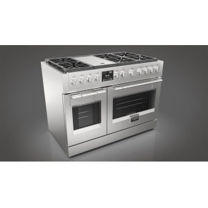 "Fulgor Milano48"" Dual Fuel Pro Range - stainless Steel"