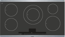 """36"""" Induction Cooktop with Touch Control 500 Series - Black with Stainless Steel Strips NIT5665UC"""