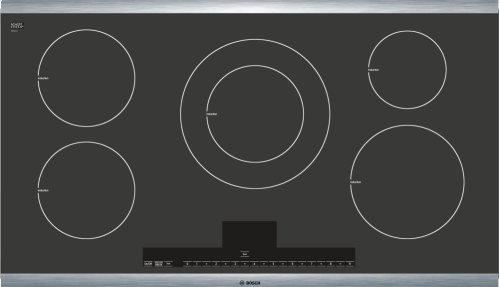 "36"" Induction Cooktop with Touch Control 500 Series - Black with Stainless Steel Strips NIT5665UC"