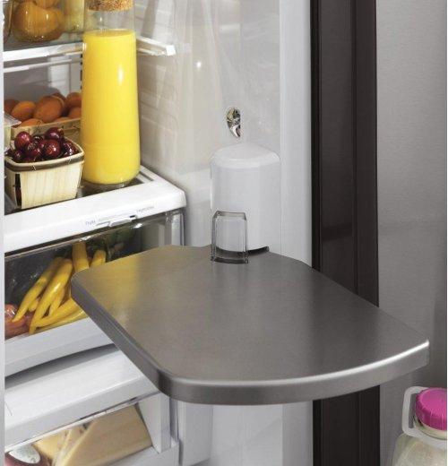 GE Profile™ Series 22.2 Cu. Ft. Counter-Depth French-Door Refrigerator with Door In Door and Hands-Free AutoFill