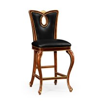 Mahogany Brown Barstool (Side)