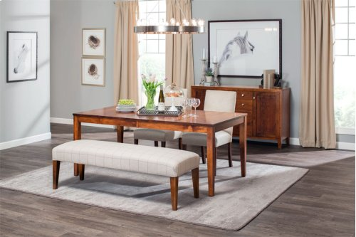 """Parkdale Leg Table, Parkdale Leg Table, 48""""x60"""", 1-24"""" Stationary Butterfly Leaf"""