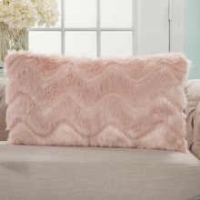 "Faux Fur Vv056 Blush 14"" X 20"" Lumbar Pillows"