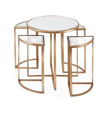Limba Mirror Accent Tables - Set of 5