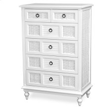 6 Drawer Split Vertical Chest