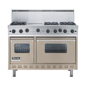 """Taupe 48"""" Open Burner Range - VGIC (48"""" wide, six burners 12"""" wide griddle/simmer plate)"""