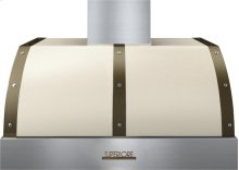 Hood DECO 36'' Cream matte, Bronze 1 power blower, electronic buttons control, baffle filters