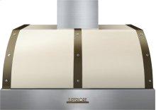 Hood DECO 36'' Cream matte, Bronze 1 power blower, electronic buttons control, baffle filters