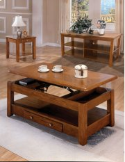 Oak Lift Top Coffee and End Table Set Product Image