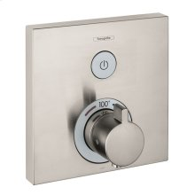 Brushed Nickel Thermostatic Trim for 1 Function, Square