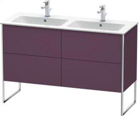 Vanity Unit Floorstanding, Aubergine Satin Matt Lacquer