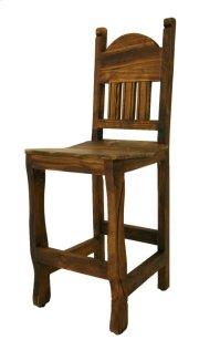 """24"""" Barstool W/Wood Seat Medio Finish Product Image"""
