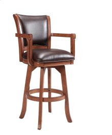 Park View Swivel Barstool - Medium Brown Oak