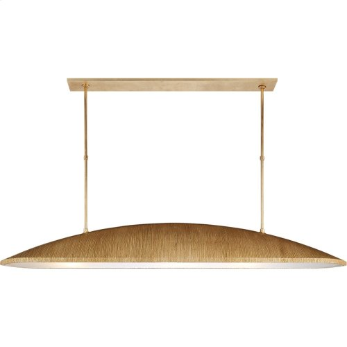 Visual Comfort KW5550G-FA Kelly Wearstler Utopia 3 Light 60 inch Gild Linear Pendant Ceiling Light, Kelly Wearstler, Large, Frosted Acrylic Shade