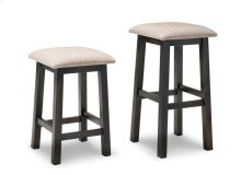 """Rafters 24"""" Counter Stool With Fabric/Bonded Leather Seat"""