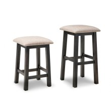 """Rafters 24"""" Counter Stool With Fabric Seat"""