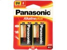 2pk 9V Alkaline Plus Batteries Product Image