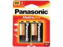 2pk 9V Alkaline Plus Batteries