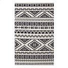 Haku Geometric Moroccan Tribal 8x10 Area Rug in Black and White Product Image