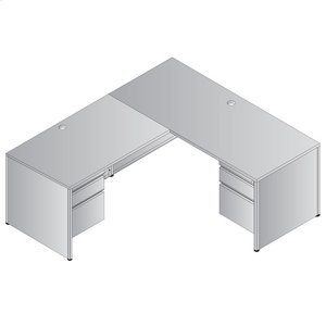 Metal Desk Right L-shape Workstation 66x78