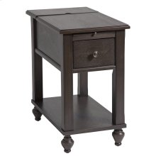 Peterson 1-drawer Chairsider In Brown Gray