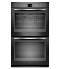 Black with Silver Handle 5.0 cu. ft. Double Wall Oven