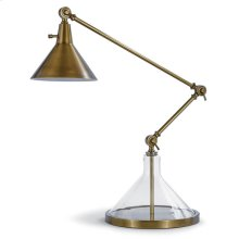 Glass Funnel Beaker Lamp (brass)