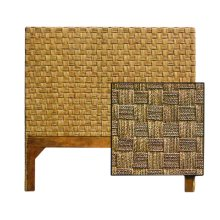 Queen Size Headboard, Checker Board Natural Finish Only.