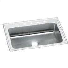 """Elkay Lustertone Classic Stainless Steel 33"""" x 22"""" x 7-5/8"""", Single Bowl Drop-in Sink"""