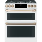 """30"""" Smart Slide-In, Front-Control, Dual-Fuel, Double-Oven Range with Convection"""