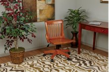 Deluxe Armless Wood Bankers Chair With Wood Seat (fruit Wood Finish)