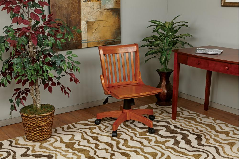 Deluxe Armless Wood Bankers Chair With Wood Seat (fruit Wood Finish) & 101FW in by Office Star in Mitchell SD - Deluxe Armless Wood ...