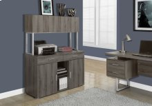 "OFFICE CABINET - 48""L / DARK TAUPE STORAGE CREDENZA"