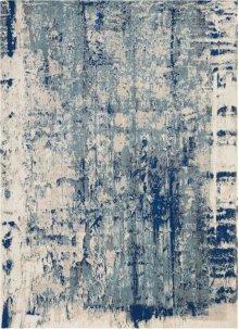 Maxell Mae16 Ivory Blue Rectangle Rug 5'3'' X 7'3''