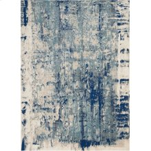 Maxell Mae16 Ivory Blue Rectangle Rug 5'3'' X 7'3''