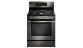LG Black Stainless Steel Series 5.4 cu.ft. Capacity Gas Single Oven Range with EasyClean®