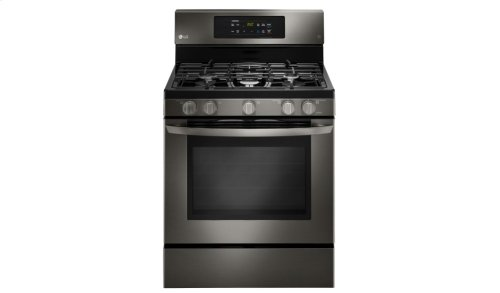 LG Black Stainless Steel Series 5.4 cu.ft. Capacity Gas Single Oven Range with EasyClean®