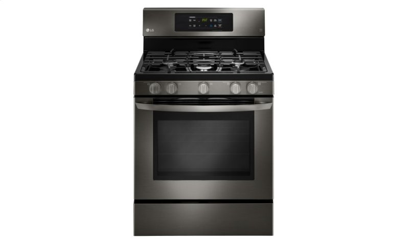 Lg Black Stainless Steel Series 5 4 Cu Ft Capacity Gas Single Oven Range With Hidden