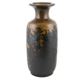 Textured Black Cylinder Jar